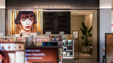 The fresh beauty area is designed to be more relaxed and not overwhelm customers with the brands available.