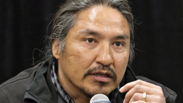 Chief Allan Adam of the Athabasca Chipewyan First Nation in 2014.