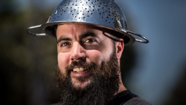Marcus Bowring managed to get his Vicroads licence taken with a pasta strainer on his head in 2016.