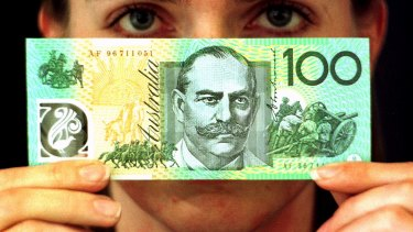 A $100 note will last for 200 years, according to the RBA.