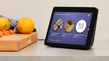 Echo Show can display step-by-step recipes.