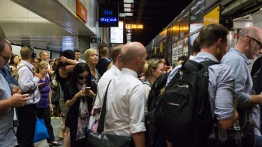 Overcrowding is worst at Town Hall station during the evening peak.