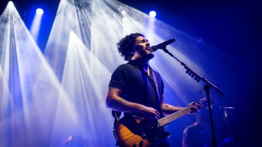 David Le'aupepe of Gang of Youths at the Enmore Theatre in Sydney on November 22.