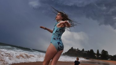 Newport Beach as severe storms swept the northern beaches.