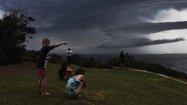 Severe storms smash the northern beaches.