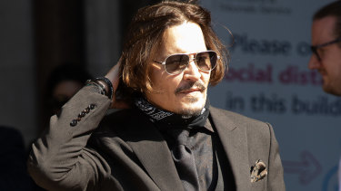 Actor Johnny Depp arrives at court on Wednesday.