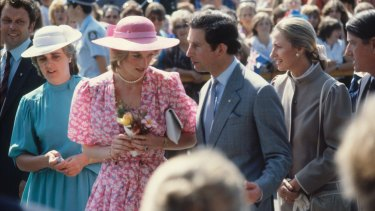 In the thick of it ... Diana, Princess of Wales and Prince Charles during their royal tour in 1983.