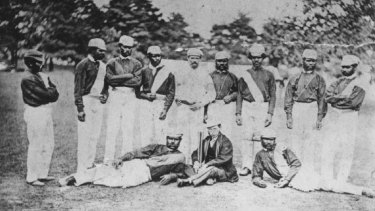 The Indigenous touring team in 1868.