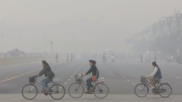 China's greenhouse gas emissions have picked up, helping to accelerate global growth rates.
