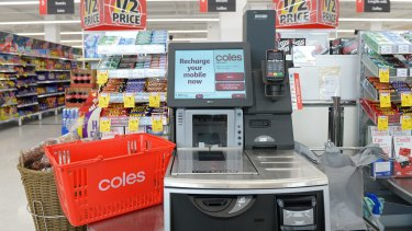 Customers are unhappy about the trolley ban at self-service tills.