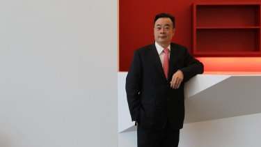 Chinese-Australian businessman Chau Chak Wing, who has donated more than half a million dollars to the Australian War Memorial.