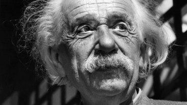 Renowned physicist Albert Einstein in Princeton, New Jersey, in 1954.