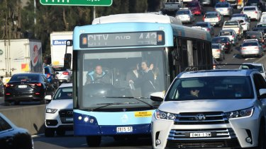 Bus services in Sydney's inner west were privatised last year.