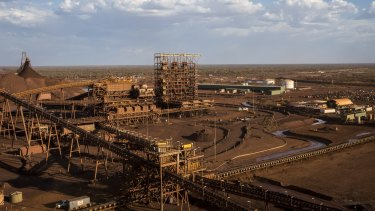 The worker arrived at Fortescue's Christmas Creek mine on Monday.