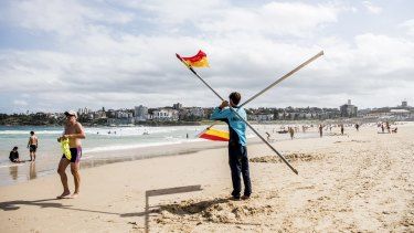 The flags come down at Bondi Beach.