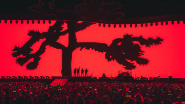 The Joshua Tree tour features the largest cinematic screen ever used for a concert.