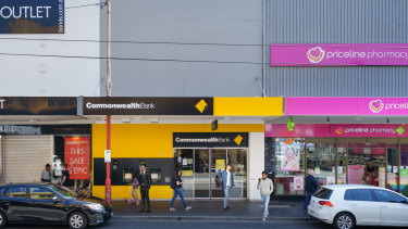 The Commonwealth Bank at 291 Chapel Street.