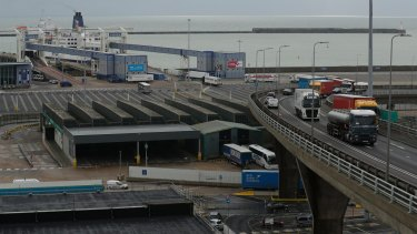The UK's economy has contracted and could stall further if there is a No Deal Brexit. The port of Dover.
