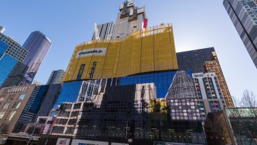 Construction on the vast Aurora Melbourne Central development began two years ago.