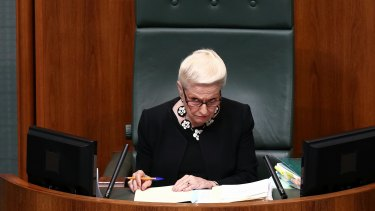 Bronwyn Bishop was heavily criticised for her handling of an aged care scandal in 2000. She would later be made Speaker of the House of Representatives.