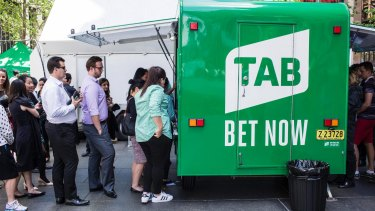 Earnings in Tabcorp's wagering and media business fell 16 per cent.