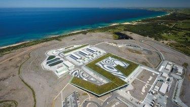 Victoria's desalination plant in Wonthaggi.
