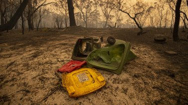The Wrights Creek fire swept through Kyola Rd on the outskirts of Kulnura, west of the Central Coast.