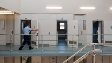 A cell block inside the Dame Phyllis Frost Centre, Victoria's main women's prison.