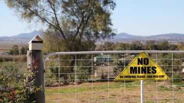 The Shenhua mine in northern NSW has been opposed by farmers and traditional owners.