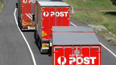 Parcel volumes have soared as Australians are staying at home to fight the pandemic.