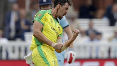 Weapon: Mitchell Starc was the standout bowler during the World Cup.