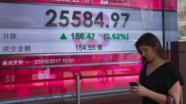 The Hang Seng was up 0.6 per cent in earlier trade.