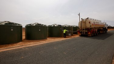Trucks hauled fresh water from Wentworth for the past week to guarantee the race could take place.