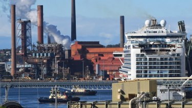 The Ruby Princess is docked in Port Kembla, south of Sydney. It is expected to leave on Wednesday.