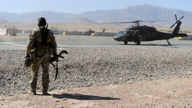 An Australian Special Operations Task Group soldier in Afghanistan.