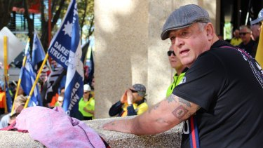 Long-time unionist Joe McDonald (above) castigated CFMMEU national secretary Michael O'Connor.