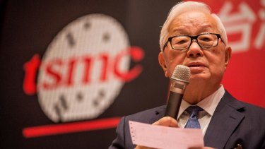 Morris Chang, chairman and founder of TSMC, which will no longer be supplying Huawei.