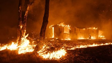 Buildings and property were lost as bushfires raced through Failford on the Mid North Coast.