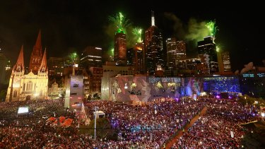 MA Services Group provides security for Melbourne City Council events including New Year's Eve fireworks.