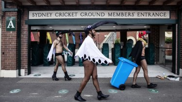 The Mardi Gras parade has been moved to the Sydney Cricket Ground.