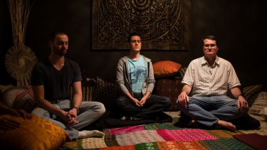 Group meditation sessions are held at Google's offices.