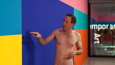 Naked tour at Museum of Contemporary Art led by artist Stuart Ringholt (pictured) in 2011.