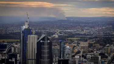Smoke from the Coolaroo recycling factory fire of 2017 was visible from the CBD.