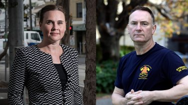 A digitially-altered image of former minister Jane Garrett and firefighter union leader Peter Marshall.