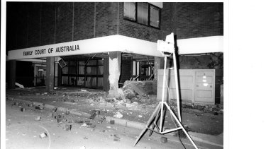 The aftermath of the Family Court bombing in Parramatta.