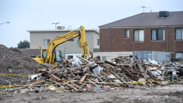 The Cairnlea site where rubble from the pub was dumped after the illegal demolition.