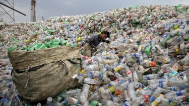 Indonesia's second-largest city is giving free bus rides in exchange for used plastic bottles.