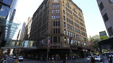The David Jones building on Sydney's Elizabeth Street.