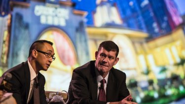 Lawrence Ho and James Packer.