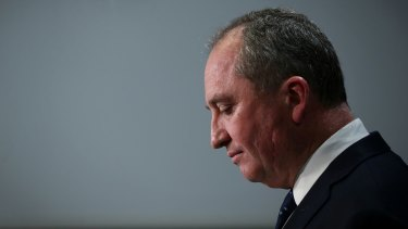 Barnaby Joyce is seeking re-election in New England amid another scandal.